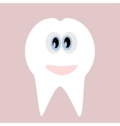 Tooth icon Cute funny cartoon smiling character vector image vector image