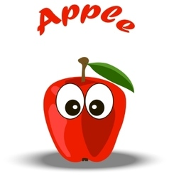 Trendy red apple vector