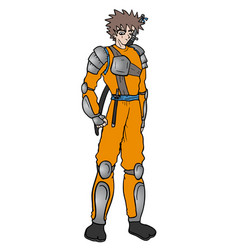 Warrior ninja vector