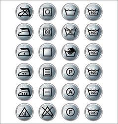 Washing sign silver edition vector image