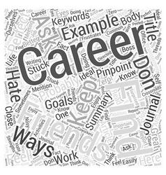 Ways to pinpoint your perfect career word cloud vector