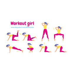 young slim woman workout fitness and aerobic vector image