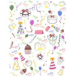 Seamless happy birthday background vector