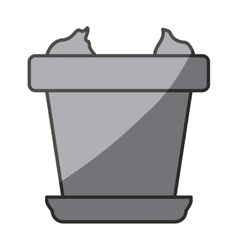 Isolated pot design vector