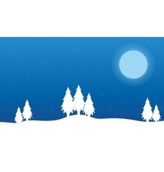 Field full snow christmas landscape vector