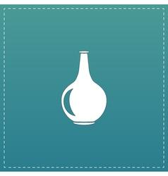 Amphora flat icon vector