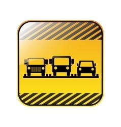Traffic sign parking area for cars vector