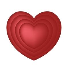 Hearts love romance symbol design vector