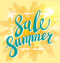 Summer sale banner for business promotion and vector