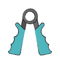 hand grip vector image