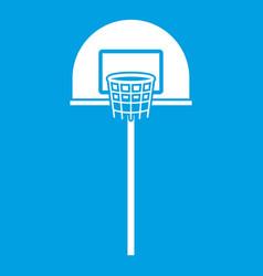 Street basketball hoop icon white vector