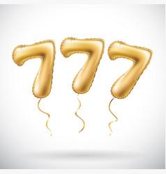 Golden number 777 seven hundred and seven vector