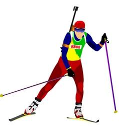 al 0719 biathlon 01 vector image