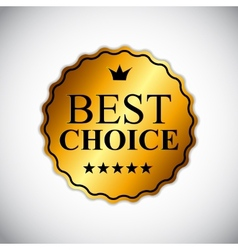 Best choice golden label eps10 vector