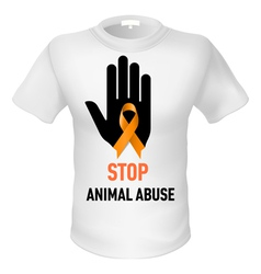 Tshirt animal abuse vector