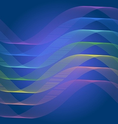 Spectrum curve line abstract background vector