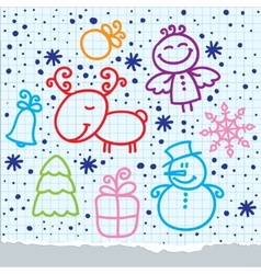 Christmas hand drawn design vector