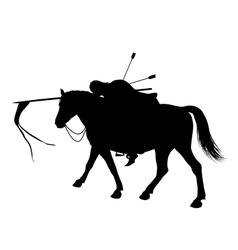 Dead horseman vector image