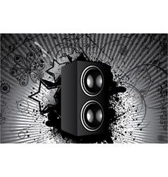 Concert poster with speaker vector
