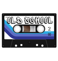 Vintage old school cassette with name on it vector