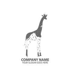 Night giraffe logo icon vector