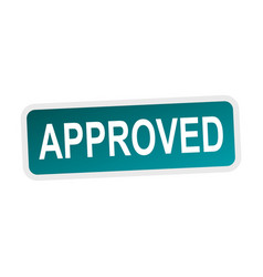 approved sign flat vector image