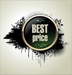 Best price grunge banner vector image