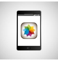 Big smartphone black picture icon vector
