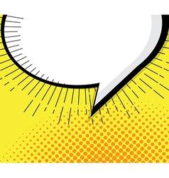 Blank pop art comic book speech bubble vector