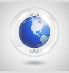 Bubble globe vector