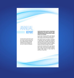 business report modern wave layout leaflet vector image