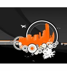 city rainbow vector image