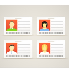 Collection of an id cards vector image