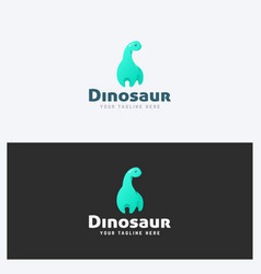 dinosaur logo template vector image vector image