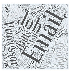 Email processor jobs word cloud concept vector