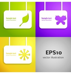 Entertainment applique background set for your vector image vector image