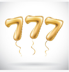 Golden number 777 seven hundred and seven vector
