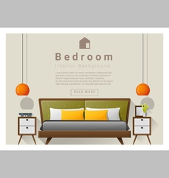 Interior design bedroom background 5 vector image vector image