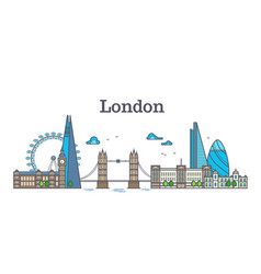 london city view urban skyline with buildings vector image vector image