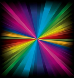 magic radial rainbow light vector image vector image