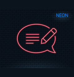 Message chat line icon speech bubble sign vector