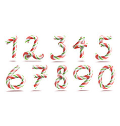 numbers sign set 3d numerals figures 1 2 vector image vector image