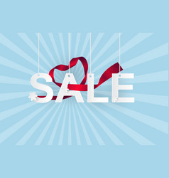 Paper art of sale on sky shopping and business vector
