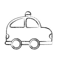 Police patrol drawing icon vector