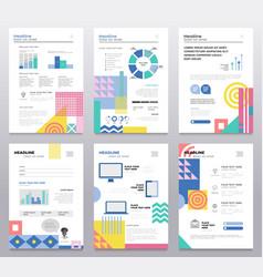 Presentation booklet - set of modern vector