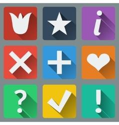 Set of stylish colorful icons vector image
