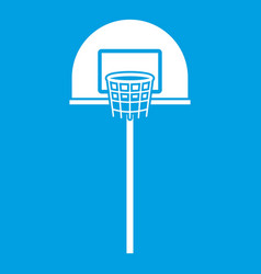 Street basketball hoop icon white vector