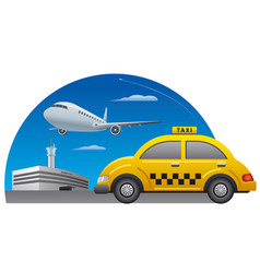 Taxi driving service vector