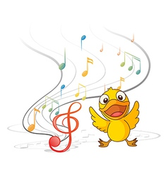 The singing chick vector image