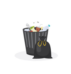 trash bin garbage container in vector image